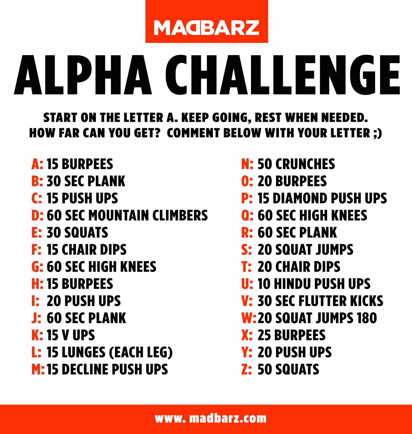 Extreme Home Workout Challenge Madbarz Alpha