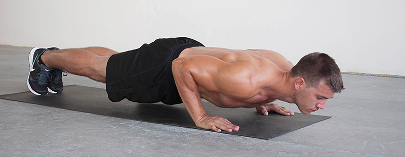 4 PUSH UP HOLD