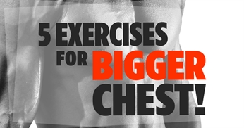 5 exercises for a bigger chest - no equipment